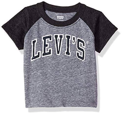 (Levi's Baby Boys' Graphic T-Shirt, Black/Dress Blues Snow Yarn, 18M)
