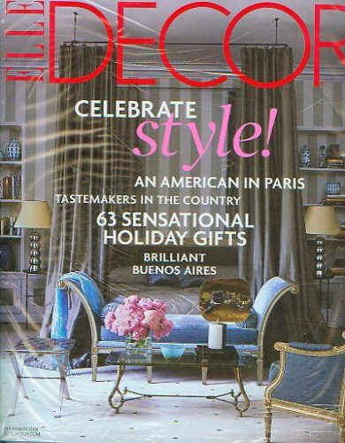 Elle Decor December 2008 Celebrate Style! (No. 152)