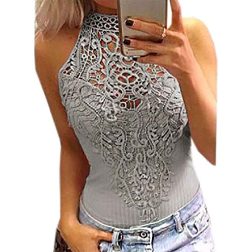 Chilie Women Body Lace Summer Playsuit Bodycon Sleeveless Patchwork Sexy Bodysuit Rompers Hollow Out Top from Chilie