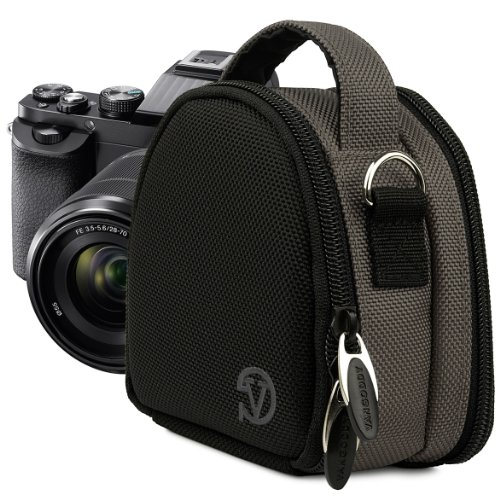 VanGoddy Compact Mini Laurel GREY STEEL Camera Pouch Cover Bag fits Canon PowerShot G7 X, N100, N Facebook, SX600, SX260, S120, S110 HS