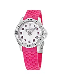 Victorinox Swiss Army - Squadron Ladies' Mother of Pearl Dial Pink Silicone Strap