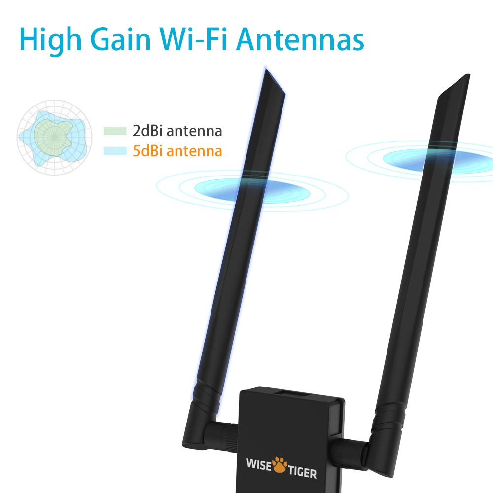 AC1300 Wifi Adapter 2.4/5GHz Dual Band Wireless