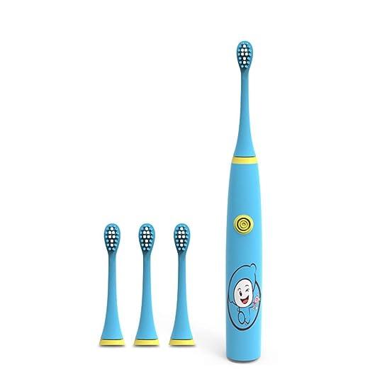 Cvbndfe Cepillo de Dientes eléctrico para niños Impermeable ...