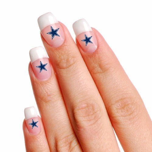 NFL Dallas Cowboys 4-Pack Temporary Nail Tattoos]()