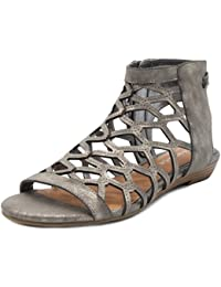 Women's Savanna Demi Wedge with Honeycomb Cutouts and Zip up Ankle High Gladiator Sandal