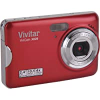Vivitar Vivicam X029 10.1 Megapixel Digital Camera with 4x Digital Zoom and 2.4 Viewing Screen - Strawberry finish