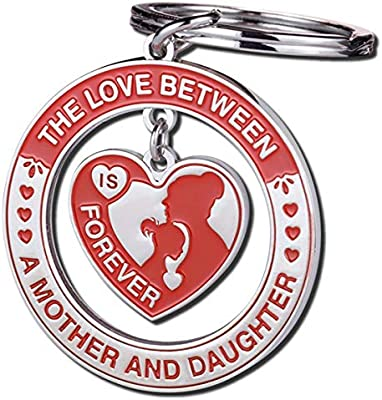 Gifts For Mom Her Daughter Gift Mother Daughter Gift The Love Between A Mother And Daughter Is Forever Keychain Ring Stainless Steel Mothers Day Birthday Christmas Gift Ideas Amazon Sg Office