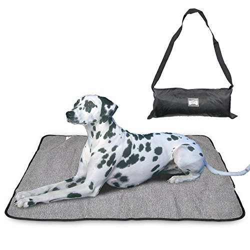 Pet Dog Mat Blanket Portable Waterproof Comfort Blanket Reversible Design Pet Dog Travel Blanket Sleeping Mat with Storage Bag by Peting