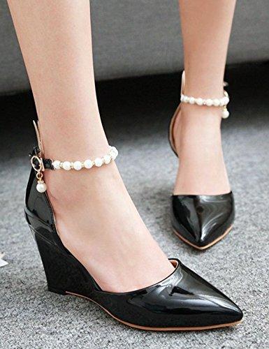 Chaussures Aisun noires Fashion femme 54xWtVuWdo