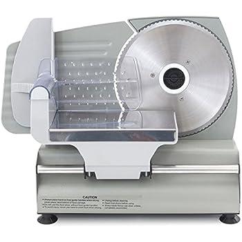 "ARKSEN Electric Meat Slicer 7.5"" Blade Home Deli Meat Food Slicer Premium Home Kitchen, 180 Watt"