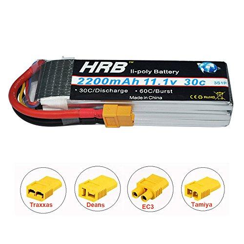 HRB 11.1V 2200mAh 3s 30C RC Lipo Battery With XT60 Plug for DJI Phantom FC40 Spare Walkera E22RC Quadcopter Drone and FPV - Mah Rc 2200 Battery