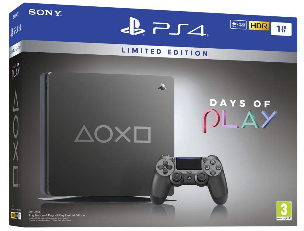 PlayStation 4 - Consola de 1TB (PS4) Edición Days of Play ...
