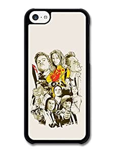AMAF ? Accessories Quentin Tarantino Movie Collage Illustration Black and White Yellow Kill Bill case for iphone 6 4.7