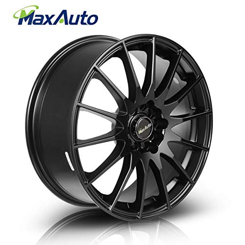 MaxAuto 1 pcs 17x7, 5x114.3, 73.1, 45, Matte Black Finish Rims Alloy Wheels Compatible with Toyota Camry 1986-2017/Honda Accord 1998-2002 2005-2011 2014 2017/Toyota Corolla 03-17/Honda Civic 04-17