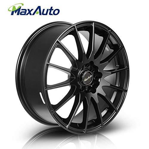 MaxAuto 1 pcs 17x7, 5x114.3, 73.1, 45, Matte Black Finish Rims Alloy Wheels Compatible with Toyota Camry 1986-2017/Honda Accord 1998-2002 2005-2011 2014 2017/Toyota Corolla 03-17/Honda Civic 04-17 ()