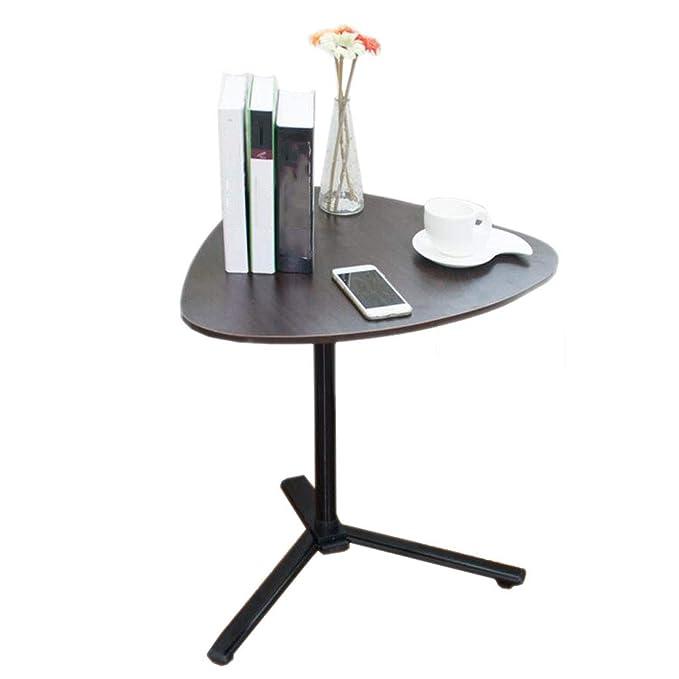 mesa plegable Línea Plateada Negra Mesita de Noche Levantamiento ...