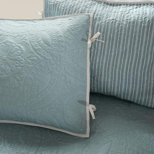 Madison Park Peyton 6 Piece Reversible Daybed Cover Set Blue Daybed (Renewed) by Madison Park (Image #2)