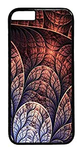 ACESR Abstract Leaf iPhone 6 Hard Case PC - Black, Back Cover Case for Apple iPhone 6(4.7 inch)