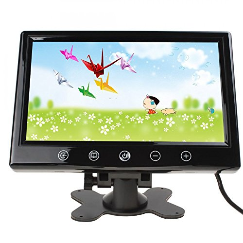LCD auto car rearview color monitor with HD resolution 800480 Digital Screen Display support 2 video input For CD DVD Video Player 9inch Touchscreen car monitor (9 Inch Monitor)
