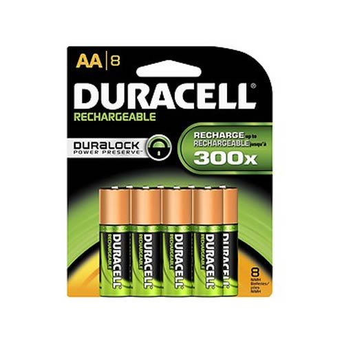 e AA NiMH Batteries, MIGNON/HR6/DC1500, 2450mAh, 8-Count Package (Duracell Recharge)
