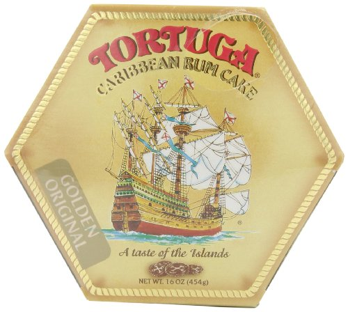 TORTUGA Caribbean Original Rum Cake with Walnuts - 16 oz. - The Perfect Premium Gourmet Gift ()