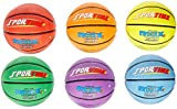 SportimeMax Junior Basketballs, 27 Inches, Multiple Colors, Set of 6