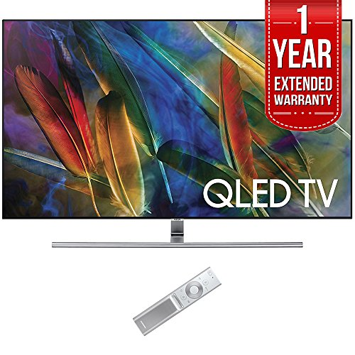 Samsung QN65Q7F Flat 65-Inch 4K Ultra HD Smart QLED TV (2017 Model) with 1 Year Extended Warranty by Samsung