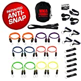 Bodylastics Stackable (28 Pcs) MAX MMA Resistance Bands Sets. This Leading Exercise Band System Includes 12 of Our Best Quality Anti-Snap Exercise Bands, Heavy Duty Components, and a Bag