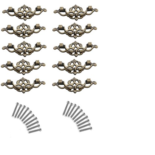 10Pcs Drawer Knobs, YIFAN 3.07inch Dresser Furniture Cupboard Handles Cabinet Drawer Wardrobe Door Pulls - Bronze