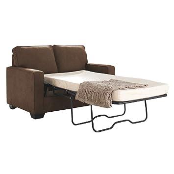 size 40 6e922 9fe3f Ashley Furniture Signature Design - Zeb Sleeper Sofa - Contemporary Style  Couch - Twin Size - Espresso