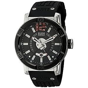 Elini Barokas Men's ELINI-20002-01-BB Spirit Analog Display Swiss Quartz Black Watch