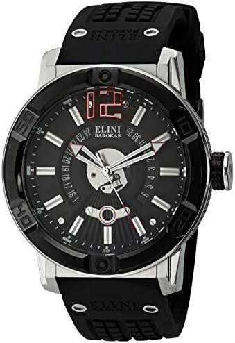 Elini Barokas Men s ELINI-20002-01-BB Spirit Analog Display Swiss Quartz Black Watch