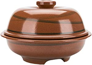 LIUSHI Clay Casserole Terracotta Stew Pot Ceramic Casserole - Essential for Cooking, Uniform Heating, Energy Saving, time Saving, Durable Capacity 1.7 liters and