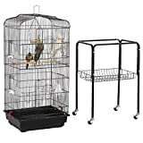 Yaheetech 59.3-inch Rolling Bird Cage for Small Parrots Cockatiels Sun...
