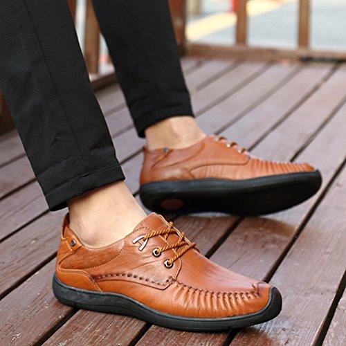 Amarillo Hombre De Feidaeu Zapatos Sintético Material qwAW4XI8