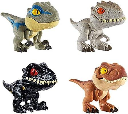 Jurassic World Dinobocazas, Pack de 4 dinosaurios de juguete para ...