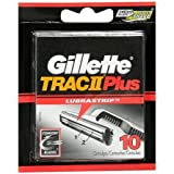 Gillette TRAC II Plus Refill Cartridges-10 ct