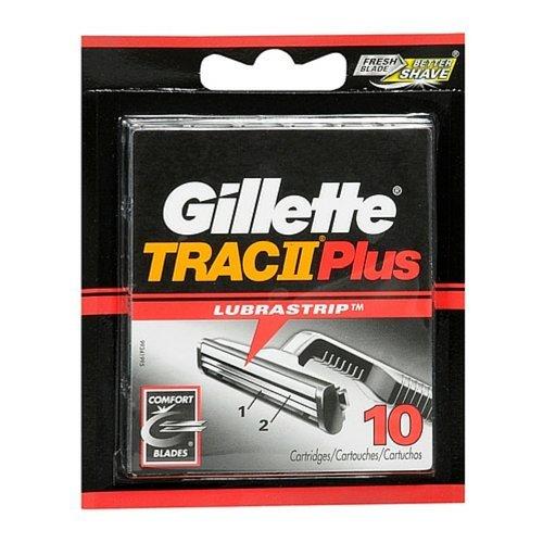 Gillette TRAC II Plus Refill Cartridges-10 - Trac Razor 11 Blades