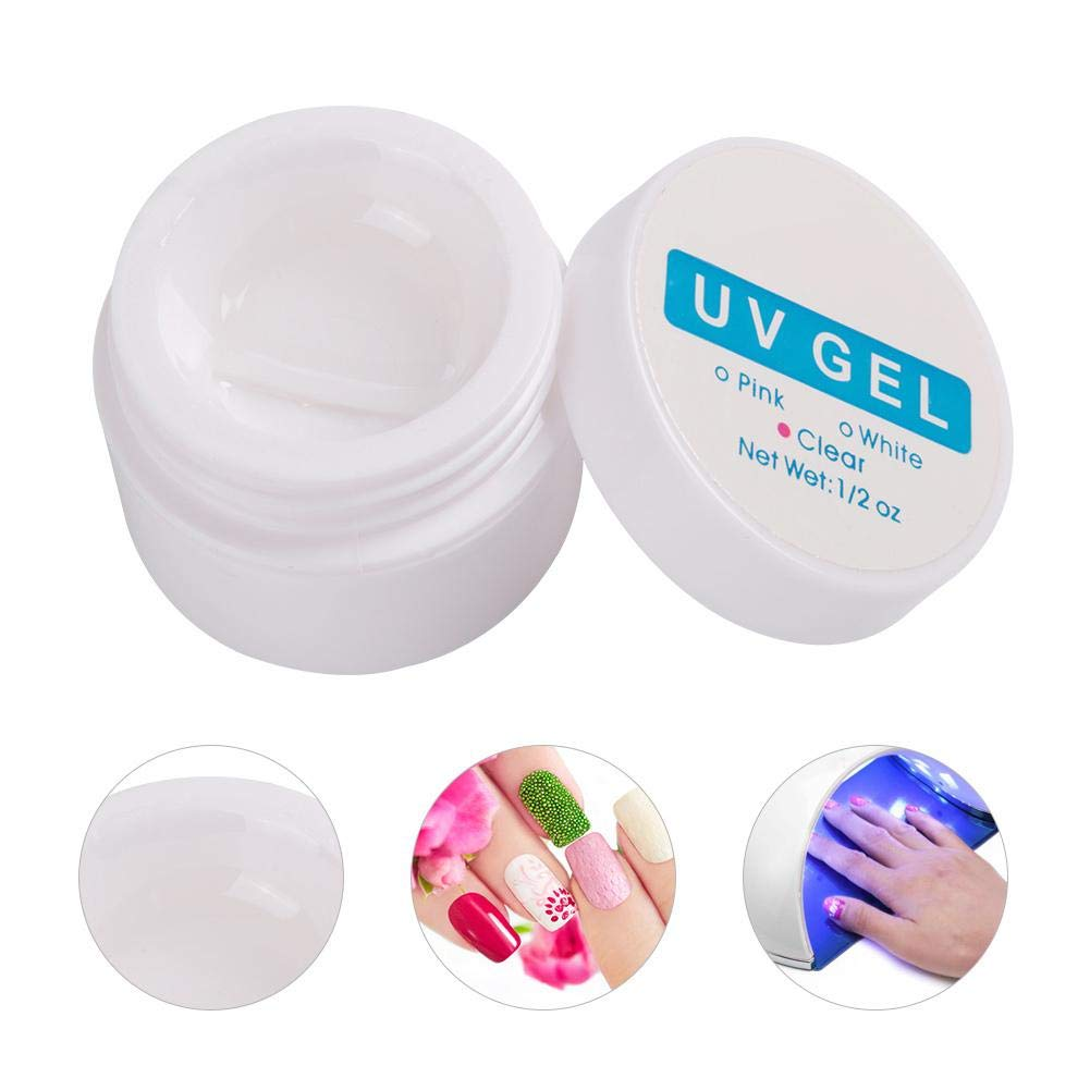 3 Colors Fast Dry Crystal Nail Extension Glue Manicure UV Gel Builder Nail Glue,Poly Gel Nail Extension Set Nail Extension Glue Manicure Extension Glue Nail Decor Extension Glue(CLEAR) by TMISHION