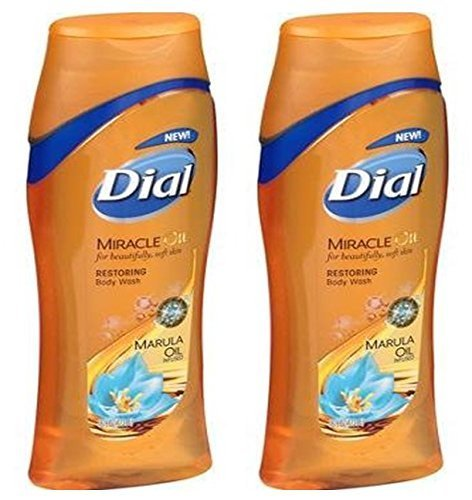 Dial Miracle Oil Marula Oil Restoring Body Wash 21 Fl.oz. (2 Pack)