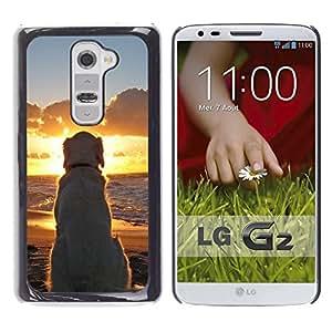 LOVE FOR LG G2 Labrador Golden Retriever Sunset Ocean Dog Personalized Design Custom DIY Case Cover