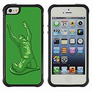 A-type Arte & diseño Anti-Slip Shockproof TPU Fundas Cover Cubre Case para Apple iPhone 5 / 5S ( Funny Tin Soldier )
