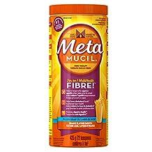 Metamucil Smooth Texture 75% less sugar Orange Psyllium Fiber Powder 72 Doses- Packaging May Vary