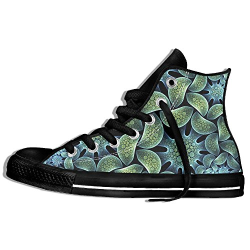 Abstract Flower High Top Sneakers Canvas Shoes Slip On Sneaker Street Dance Unisex Style Size 35