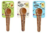 Talisman Designs Get Real Solid Beechwood Coffee Scoop and Clip, Styles Vary, 2-Pack