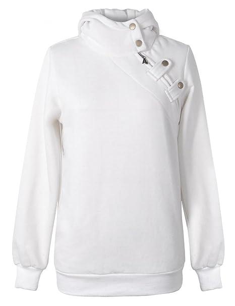 87922471c152 Elite99 Ladies Jumper Women Long Sleeve Hoodie Sweater Coat Black White  Grey Army Green Wine Red  Amazon.co.uk  Clothing
