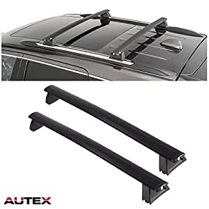 autex 2pcs aluminum roof rail rack cross bar cargo luggage carrier rack roof top. Black Bedroom Furniture Sets. Home Design Ideas