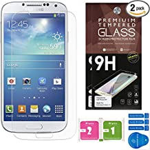 Samsung Galaxy S4 Screen Protectors [Set of 2] – Ballistic Tempered Glass – Maximum Impact Protection - 99.9% Crystal Clear HD Glass - No Bubbles – Cell Phone DIY® Premium Protector Kit