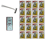 Trac II Chrome Handle + Schick Super II Plus Razor Blades 5 ct. (Pack of 20) with FREE Loving Color trial size conditioner
