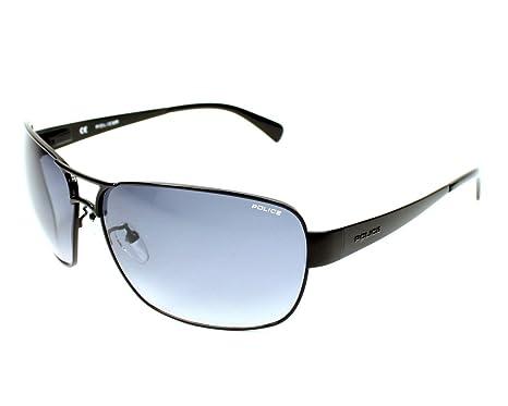 Amazon.com: Police anteojos de sol S 8538 0530 metal negro ...